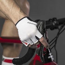 GripGrab EasyRider Gevoerde Halve Vinger Handschoenen, wit/zwart